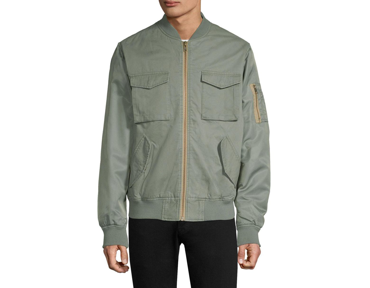 dd2c761b85268 Wesc Contrast Two-tone Bomber Jacket in Green for Men - Lyst