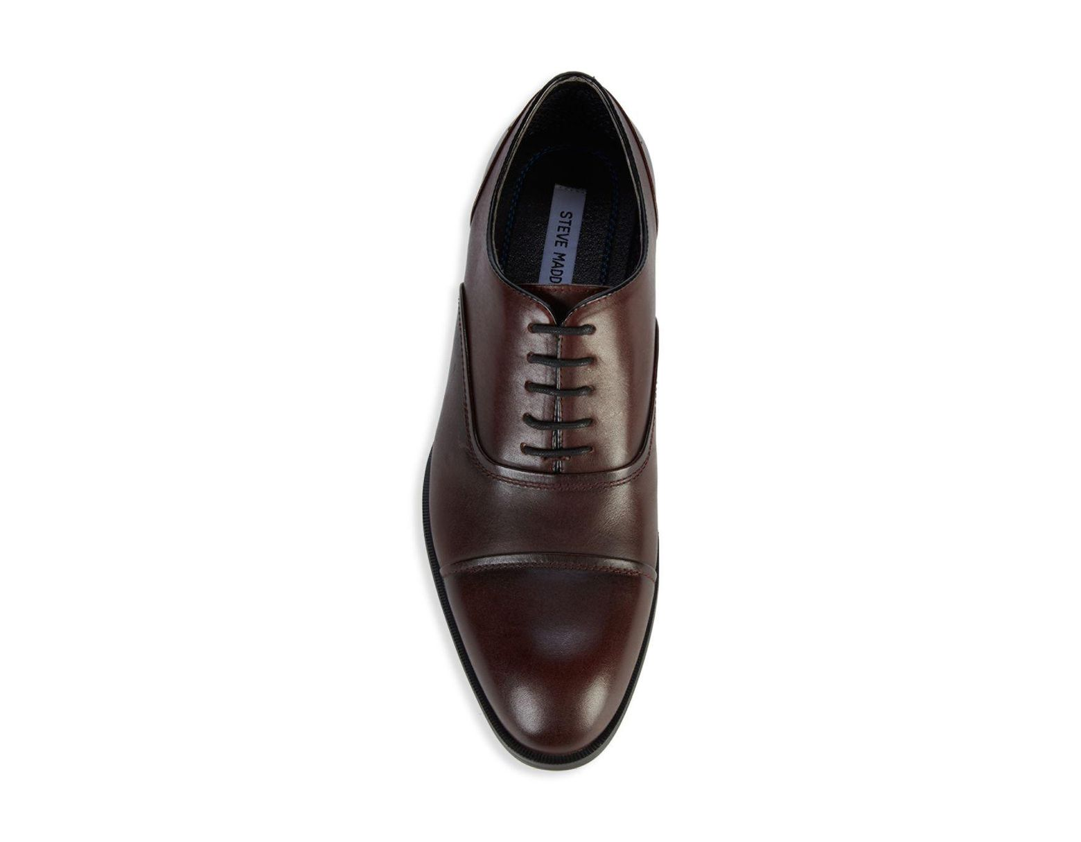 d2de6bba5e5 Steve Madden Elwood Leather Oxfords in Brown for Men - Lyst