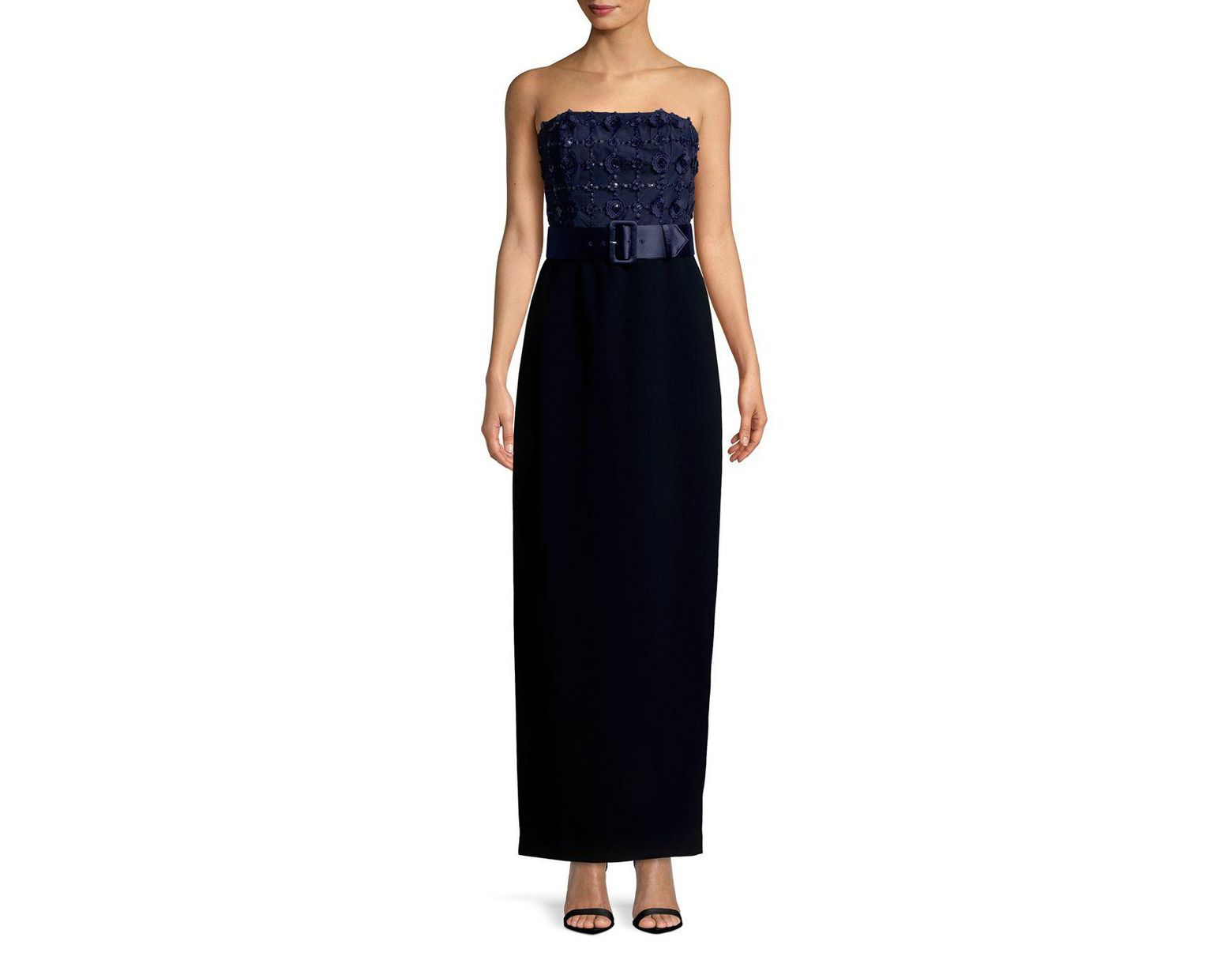 09da6200ab7 Karl Lagerfeld Social Embroidered Evening Gown in Black - Save 55% - Lyst