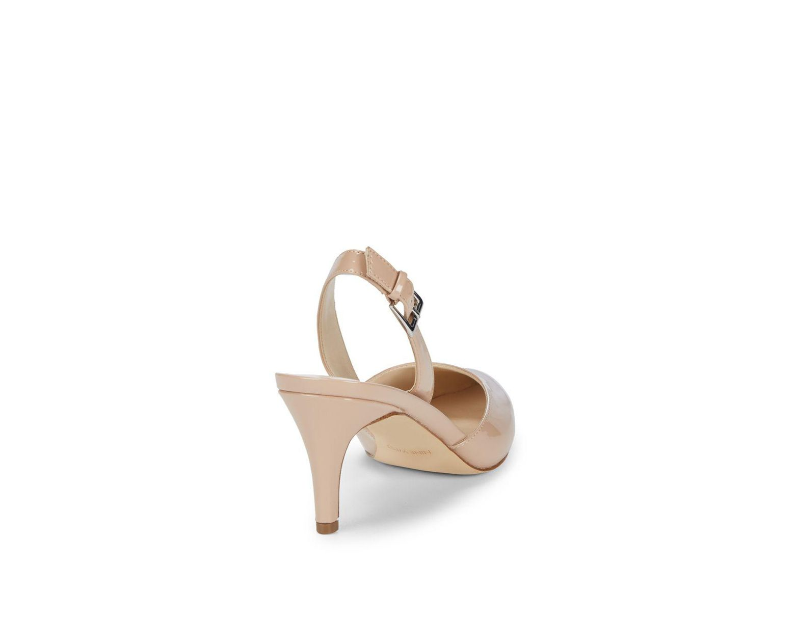 835909adb Nine West Epiphany Slingback Heels in Natural - Lyst
