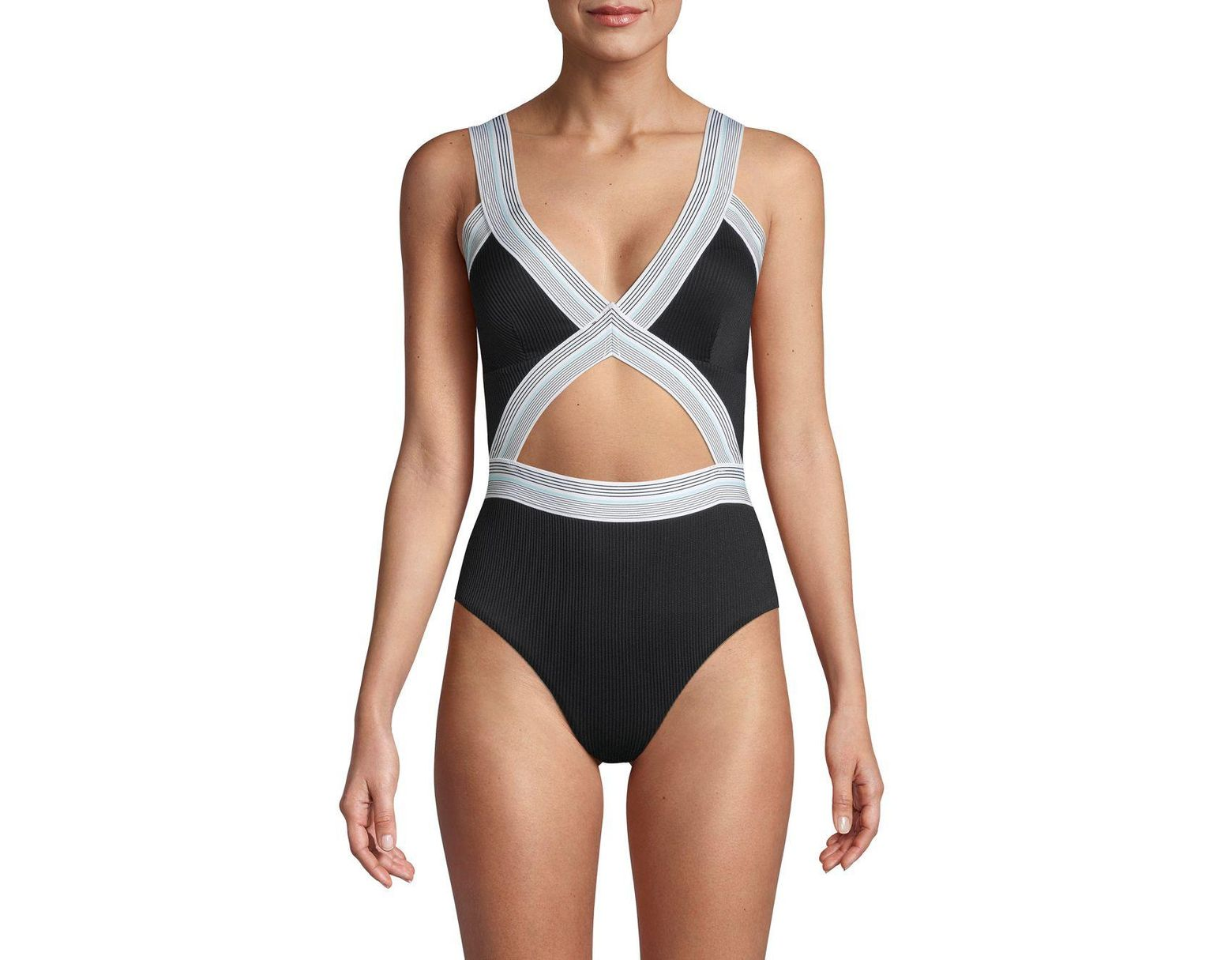 18988a27f5 Dolce Vita Fast Lane Blair Cutout One Piece Swimsuit in Black - Save 44% -  Lyst