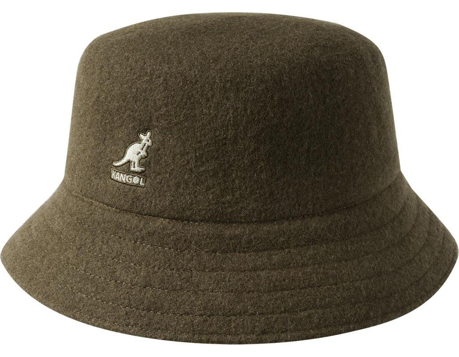 c8ad2774324c Lyst - Kangol Wool Lahinch Bucket Hat in Green for Men