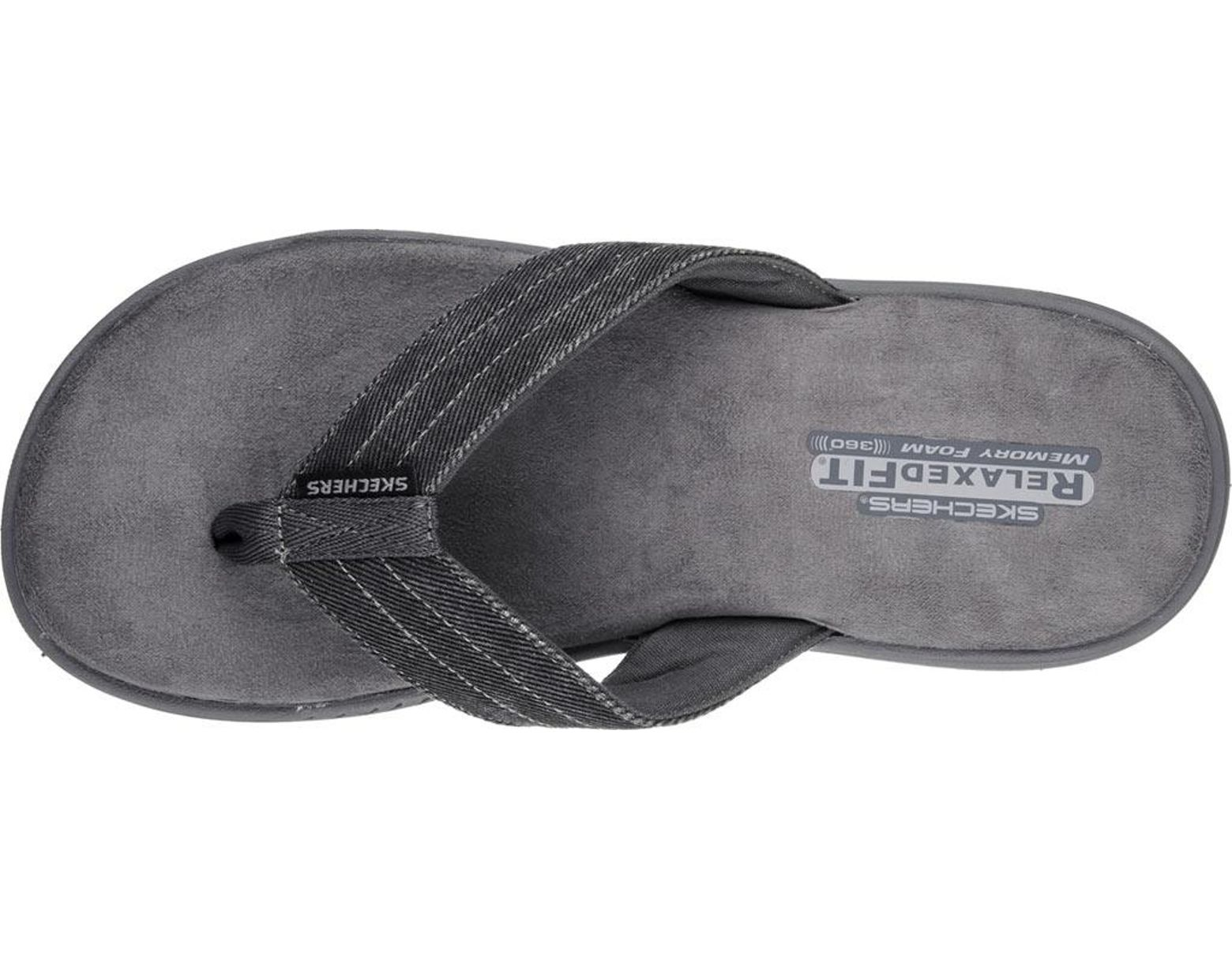 b407c479 Lyst - Skechers Relaxed Fit Evented Rosen Thong Sandal in Gray for Men