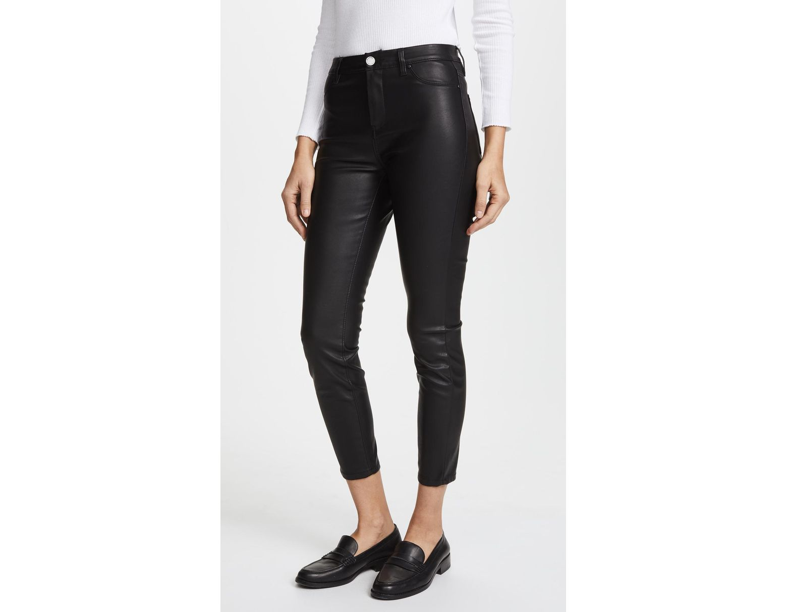 7c0e05b2afc64 Blank NYC The Principle Mid Rise Vegan Leather Skinny Pants in Black - Lyst