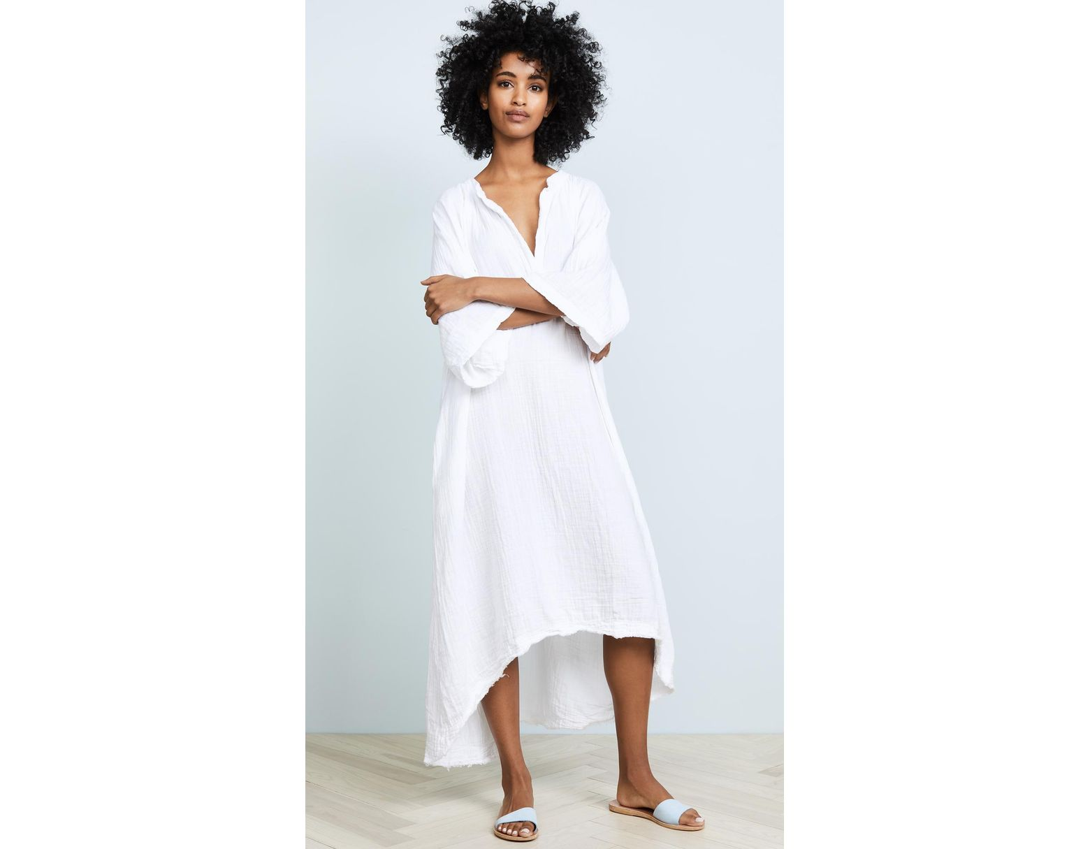 b5f2a43ad 9seed Tangier Caftan in White - Save 15% - Lyst