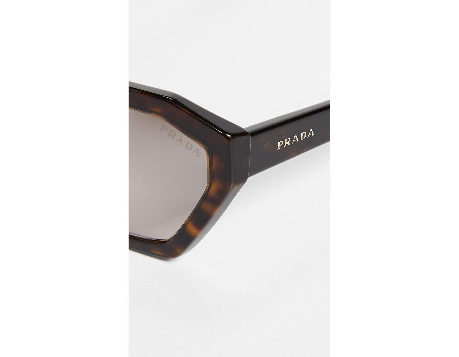 c043d11fff601 Prada Pr 03vs Millennial Geometric Sunglasses - Lyst