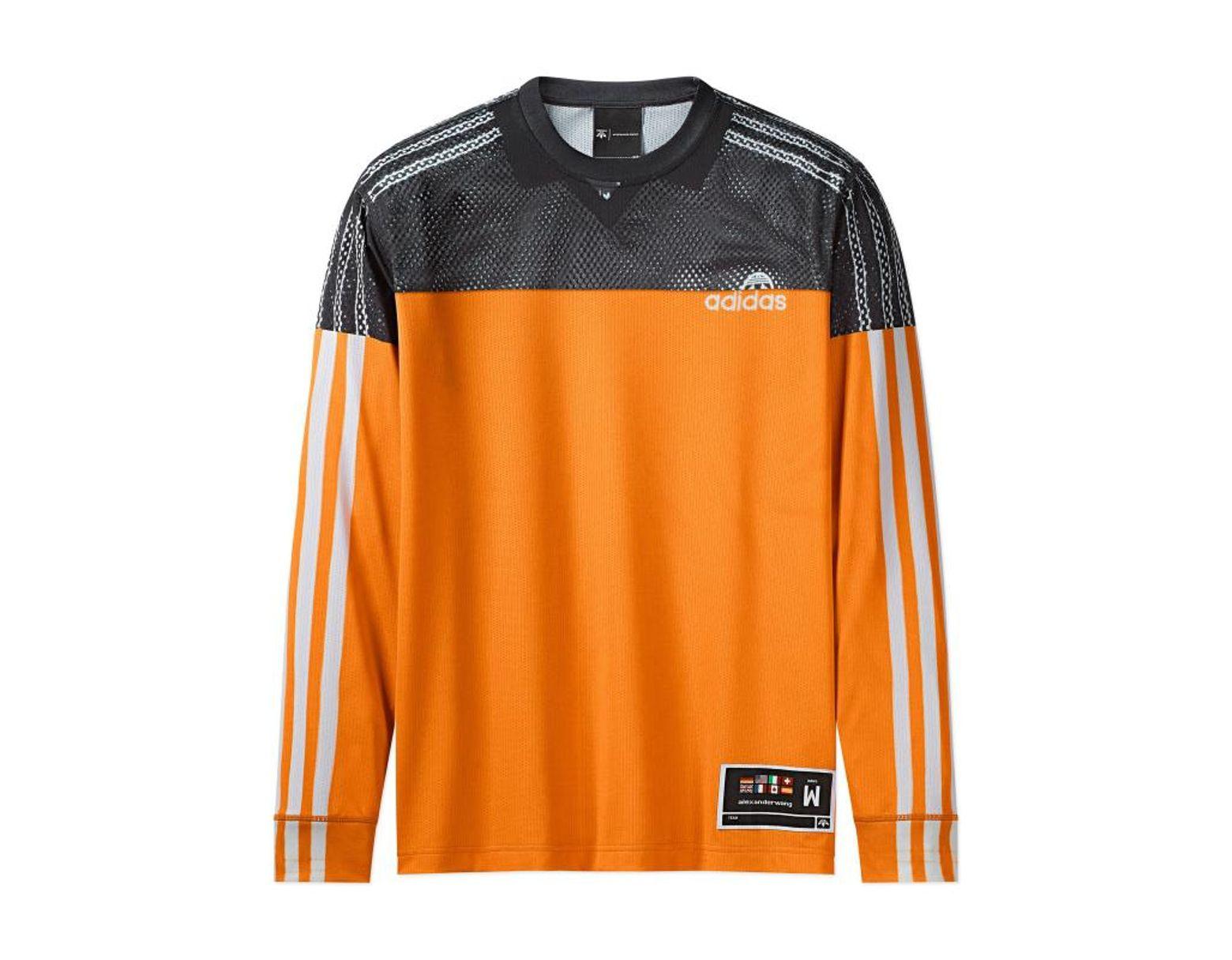 f3b80f89 adidas Originals Alexander Wang Photocopy Long Sleeves T-shirt in Orange  for Men - Lyst