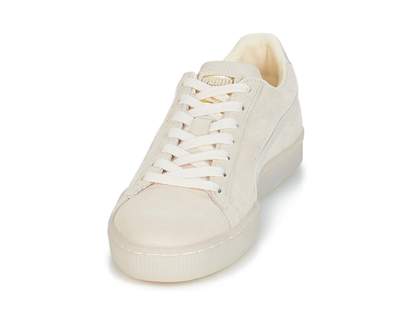 817a8d8f01 PUMA Wn Suede Cl Satin.whisper Women's Shoes (trainers) In White in White -  Lyst