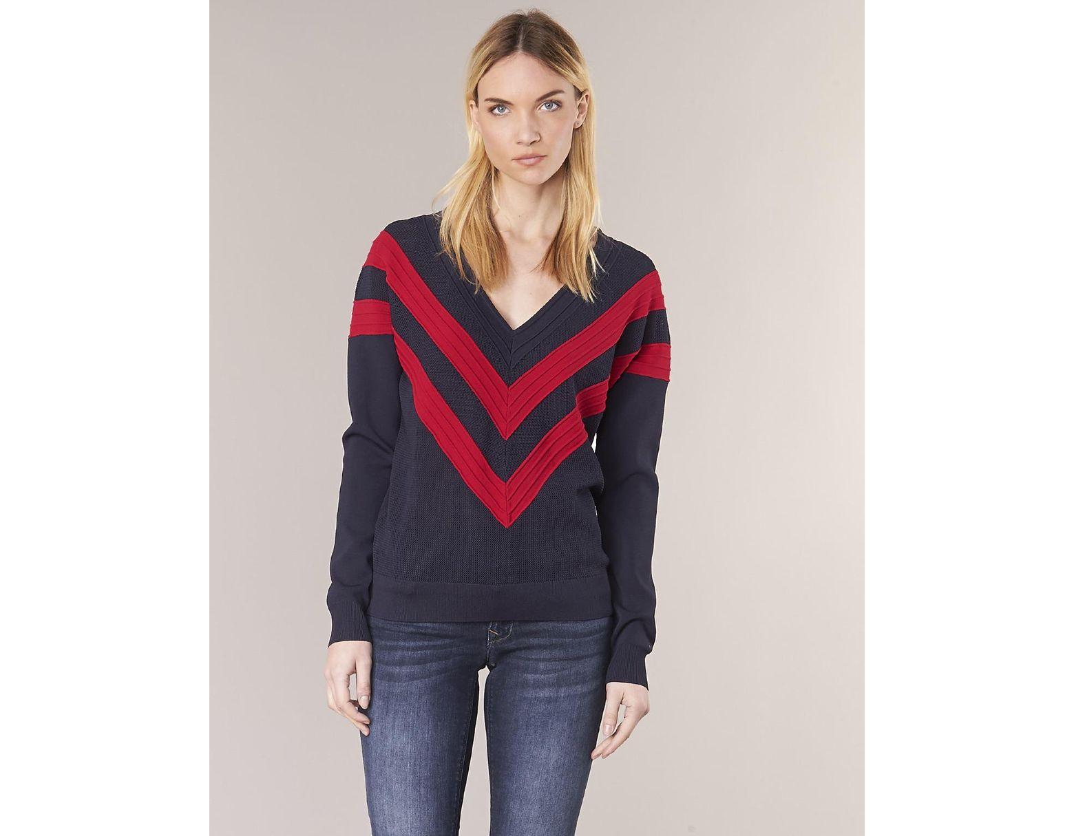 199136d3ba Tommy Hilfiger Parlie-v-nk-swtr Women s Sweater In Blue in Blue - Save 2% -  Lyst