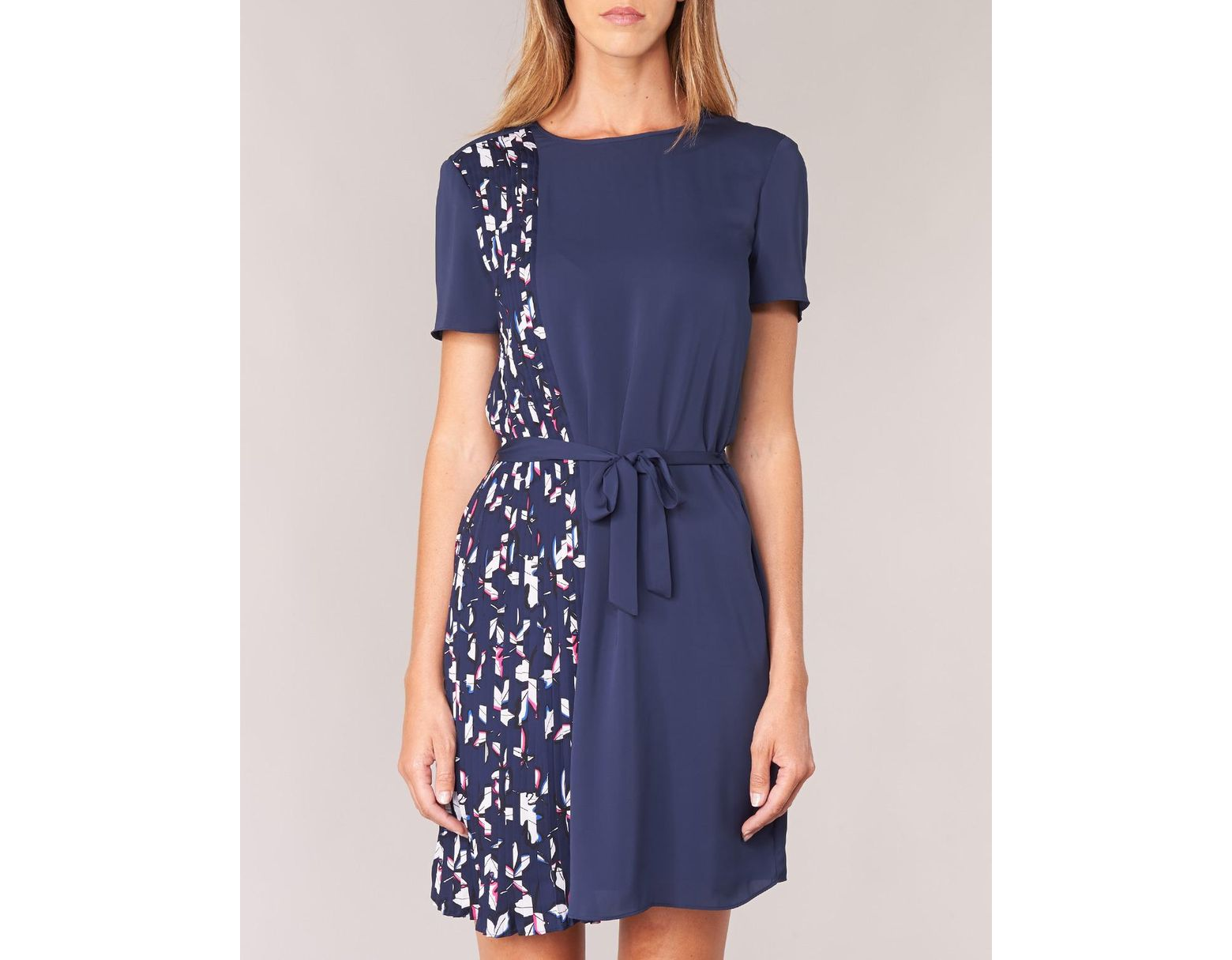 b2e11fdde3ca Tommy Hilfiger Nalise Pleated Dress Ns Women's Dress In Blue in Blue - Save  51% - Lyst