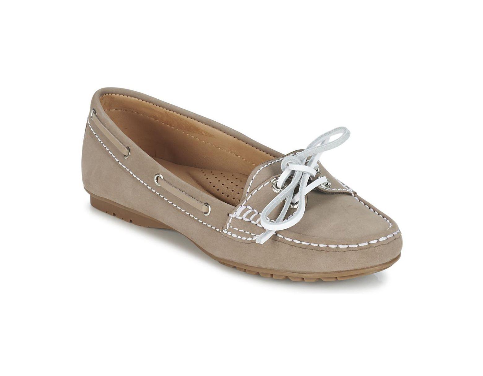 478392db36f99 Sebago Meriden Two Eye Women's Loafers / Casual Shoes In Beige in Natural -  Lyst