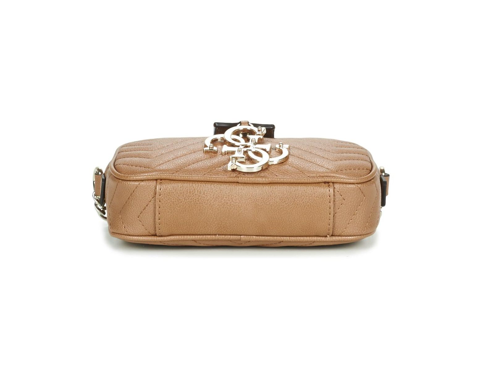 286f602ca9bf Guess Violet Mini Crossbody Camera Women's Shoulder Bag In Brown in Brown  for Men - Lyst