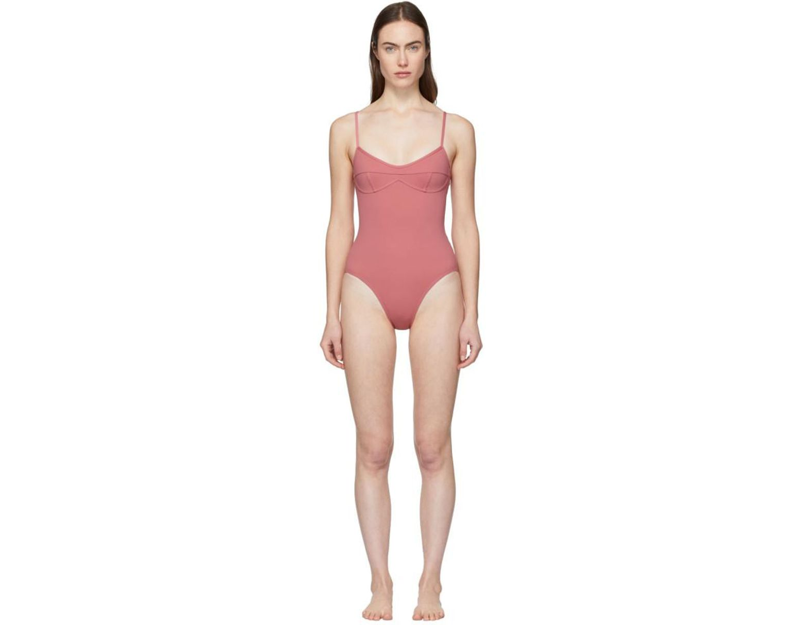 44b3b27990 Her Line Pink Sabine One-piece Swimsuit in Pink - Lyst