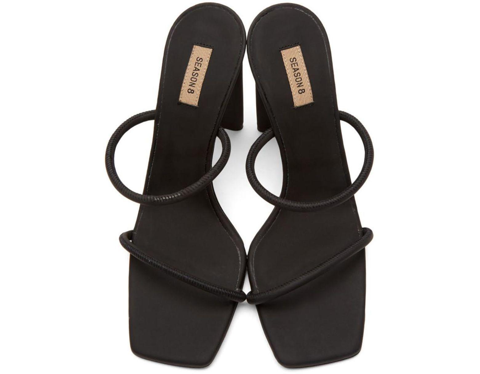 649198e17 Yeezy Black Minimal Heel Sandals in Black - Save 17% - Lyst