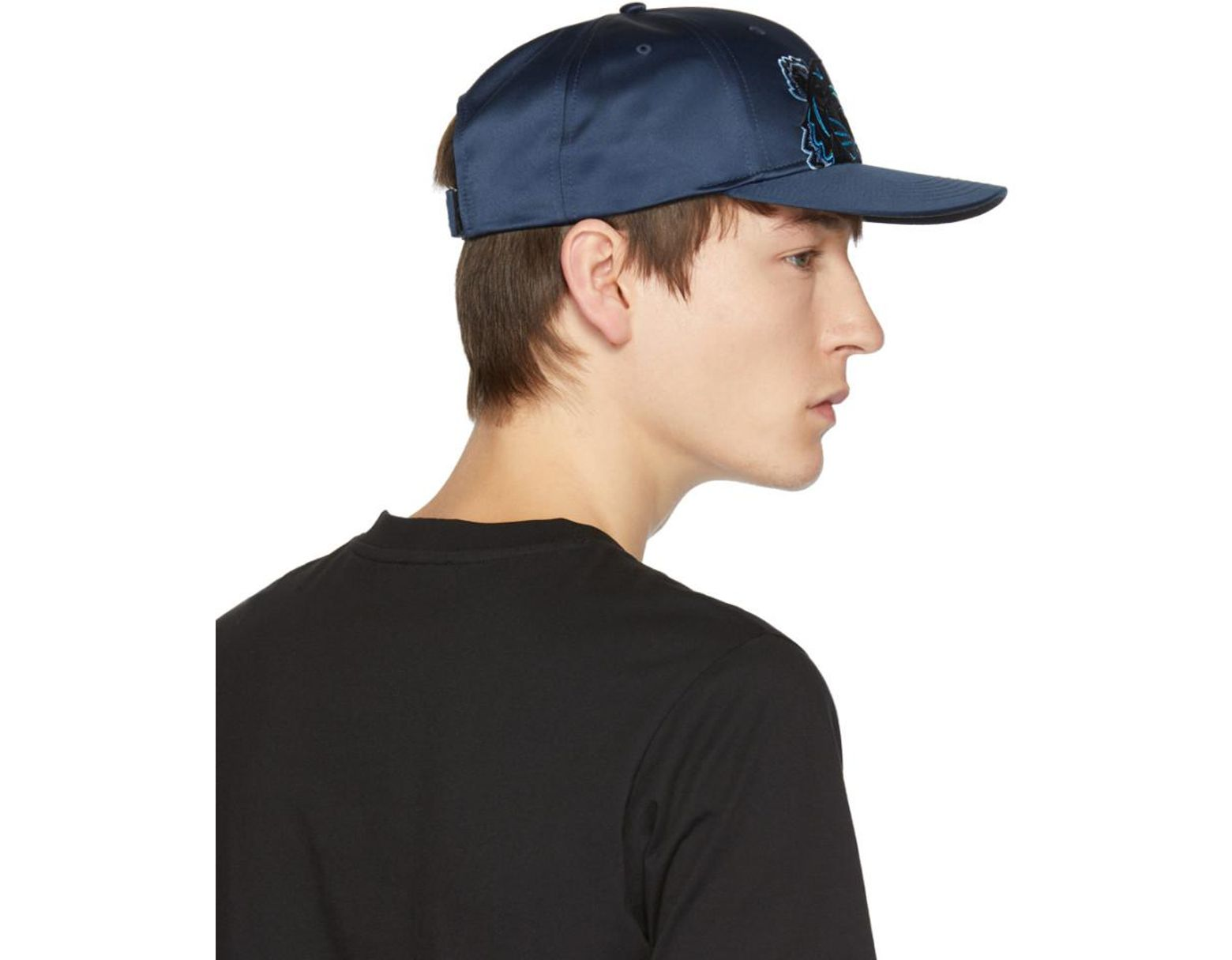 f695ff24f KENZO Navy Limited Edition Holiday Satin Tiger Cap in Blue for Men - Lyst
