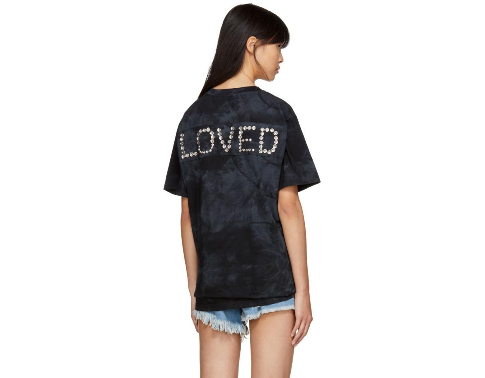 2bb4b65dd Gucci Black 'loved' 'vintage ' T-shirt in Black - Lyst
