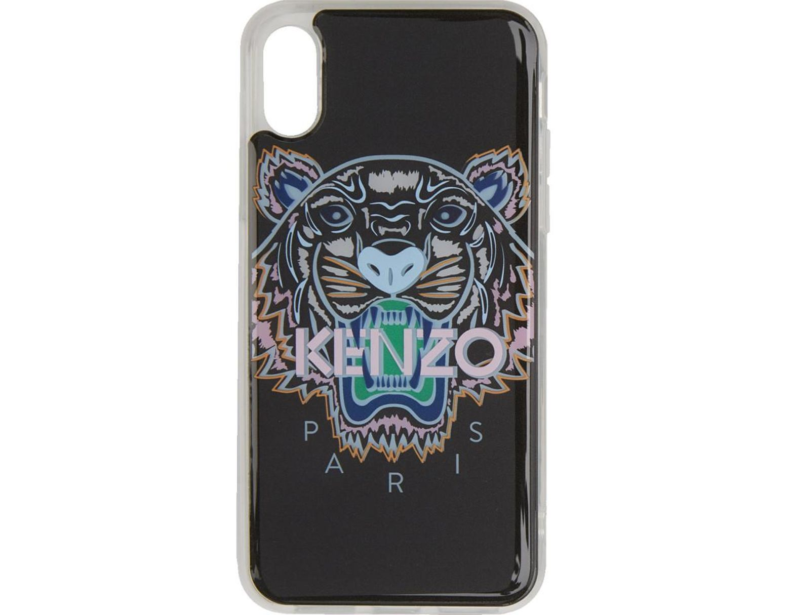 adecbf01 KENZO Black And Pink Tiger Iphone X Case in Black for Men - Lyst