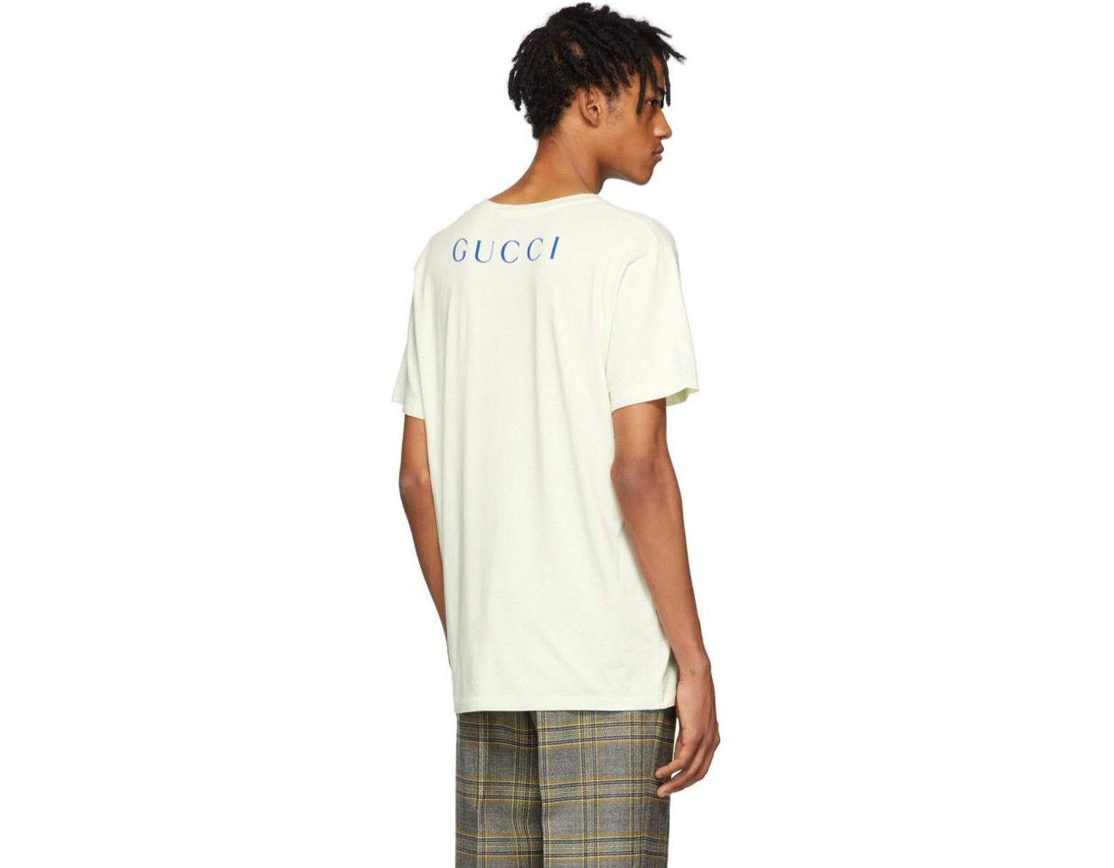 ed83fd986 Gucci White Paramount T-shirt in White for Men - Lyst