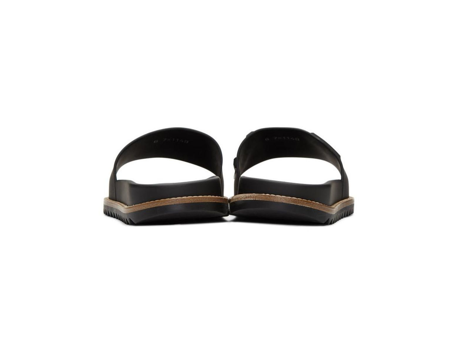 e1d360634 Fendi Black Vocabulary Slides in Black for Men - Save 38% - Lyst