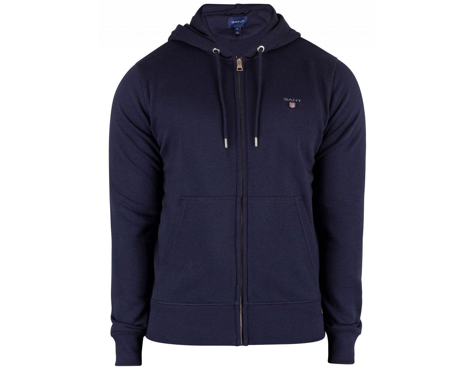 fd45953470e GANT Evening Blue Original Full Zip Hoodie in Blue for Men - Lyst