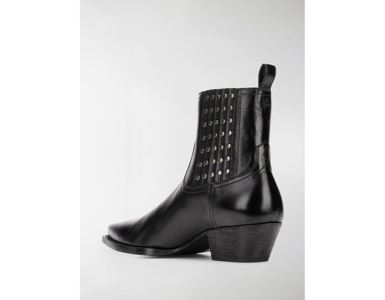 97ef757ecd6 Saint Laurent Lukas Camperos Studded Boots in Black - Save 12% - Lyst