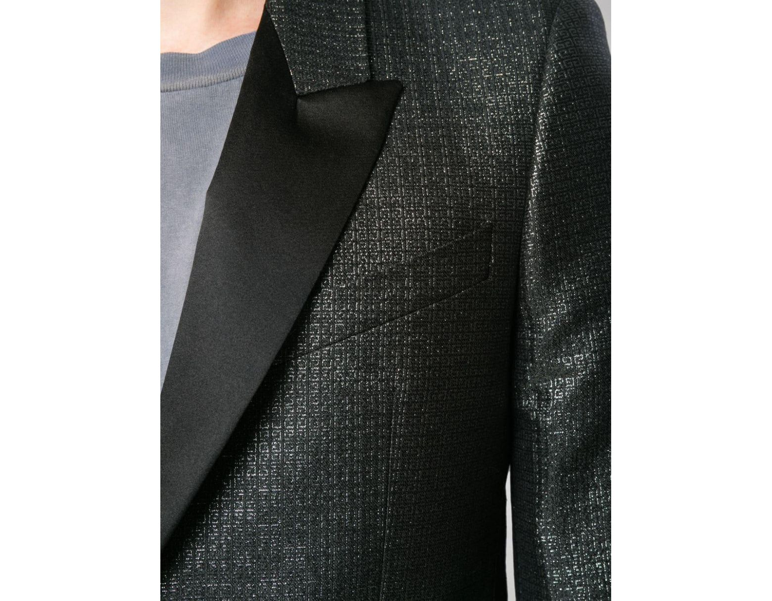 Givenchy Fitted Smoking Blazer in Black for Men Lyst