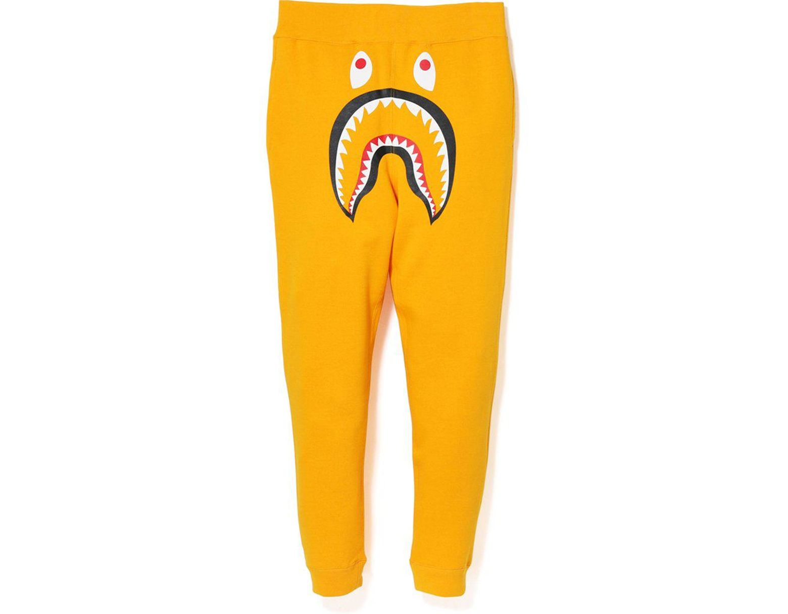 5299ac1f A Bathing Ape Shark Slim Sweat Pants Yellow/green in Yellow for Men - Lyst
