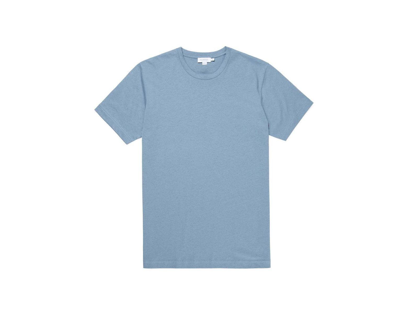 85017fc9 Sunspel Men's Organic Cotton Riviera T-shirt In Woad Melange in Blue for Men  - Lyst