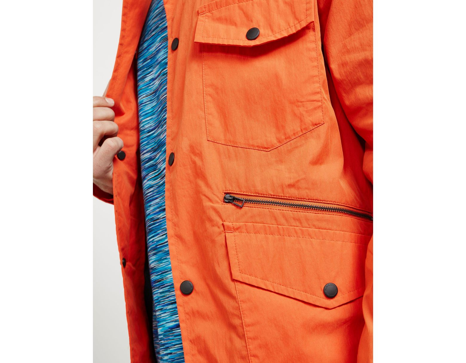 03070e8f1937 PS by Paul Smith Lightweight Four Pocket Field Jacket Orange in Orange for  Men - Save 60% - Lyst