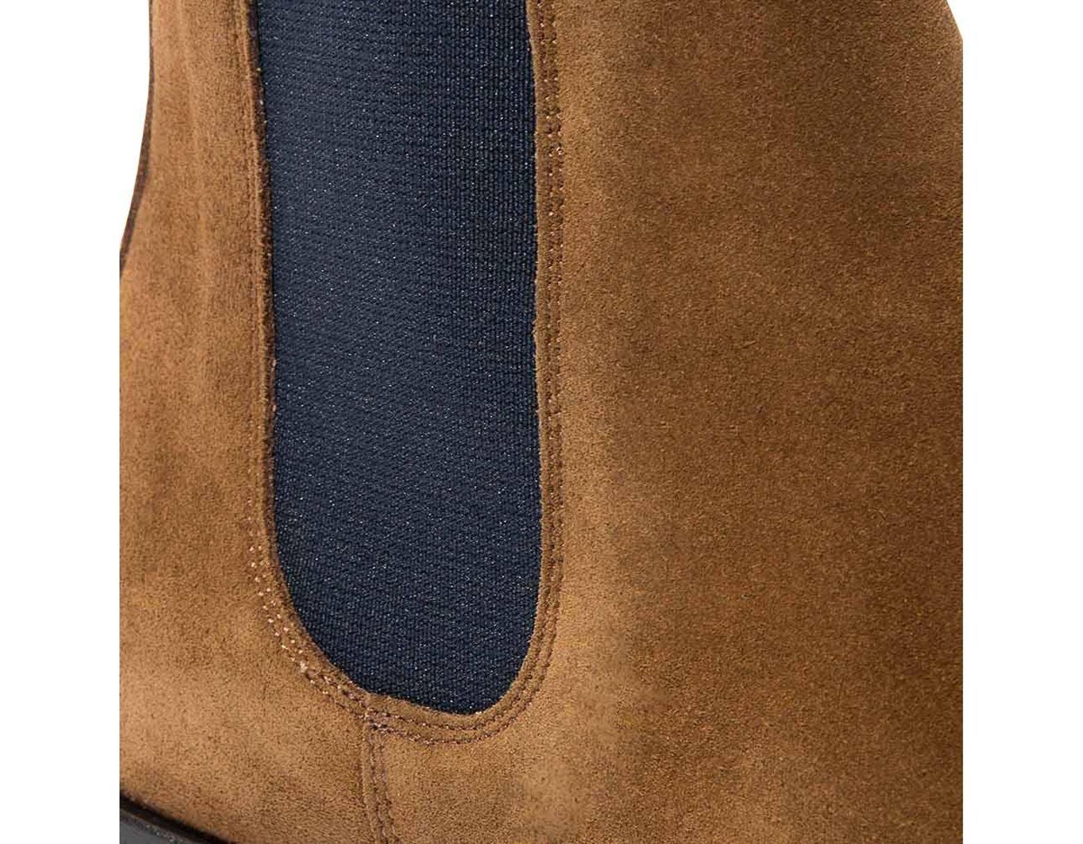 a5eda6ddfe SCAROSSO Tobacco Suede Giancarlo Chelsea Boots in Brown for Men - Lyst