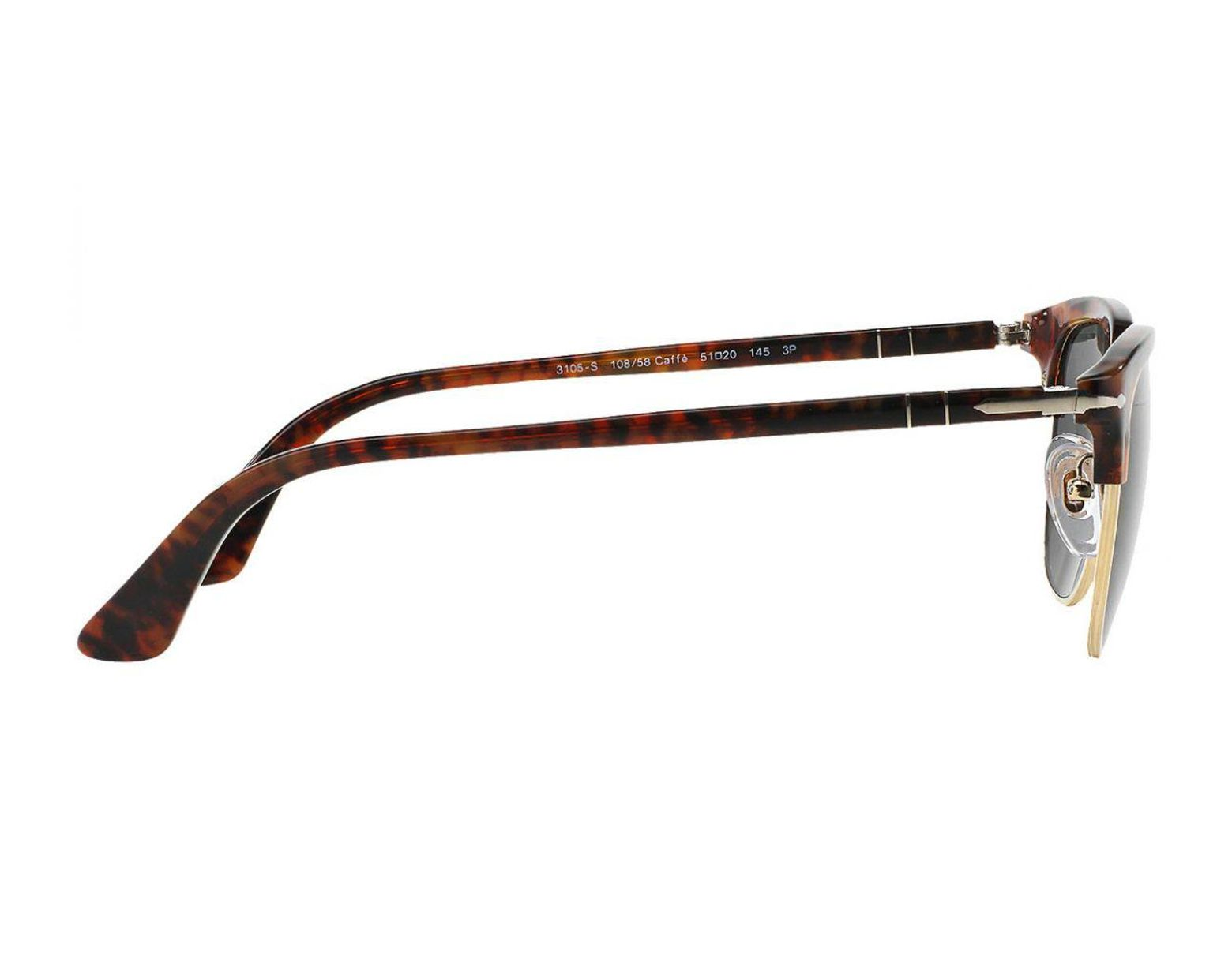 11e8e994c2e32 Lyst - Persol Icons Po3105s 108 58 Caffe With Crystal Green Lenses  Sunglasses in Green for Men