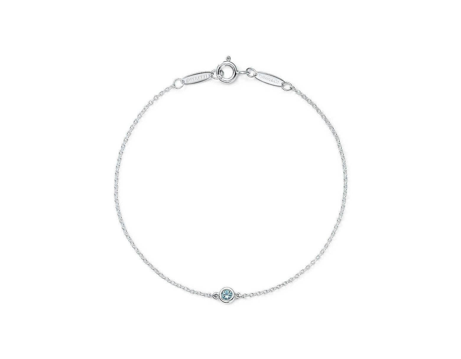 8b7b631c4 Tiffany & Co. Elsa Peretti® Color By The Yard Bracelet In Sterling Silver  With An Aquamarine in Metallic - Lyst
