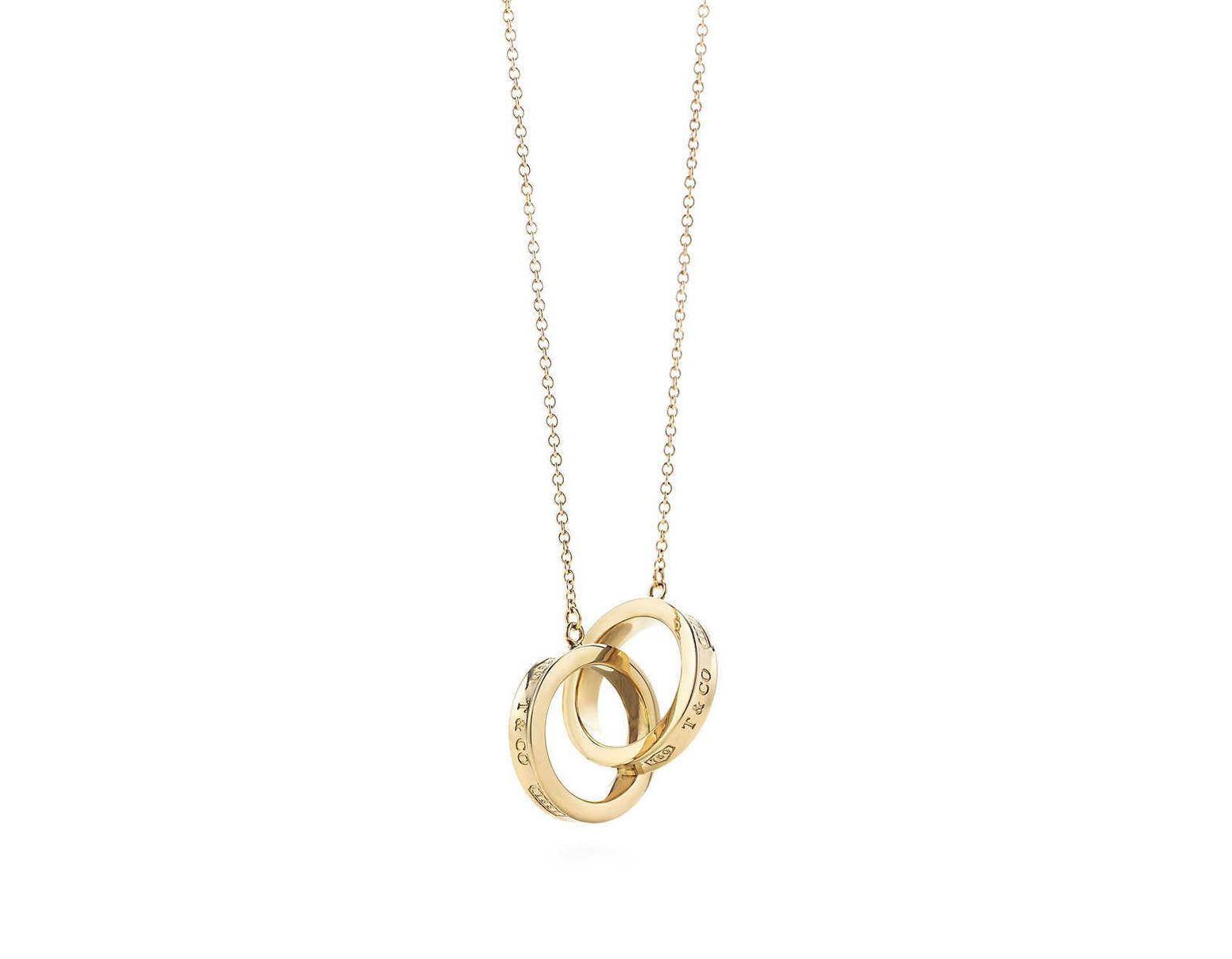 2b271c464 Tiffany & Co. Interlocking Circles Pendant in Metallic - Lyst