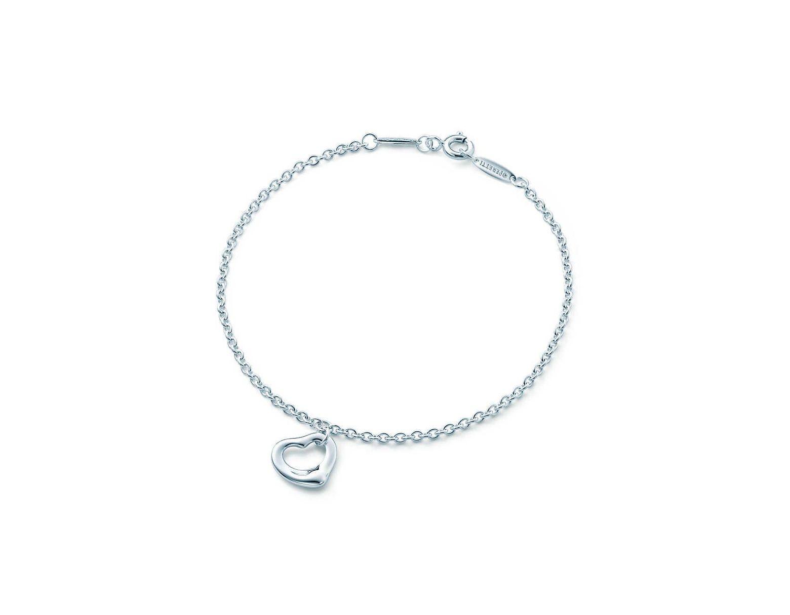 cafb373c8 Tiffany & Co. Elsa Peretti® Open Heart Bracelet In Sterling Silver, One  Size in Metallic - Lyst