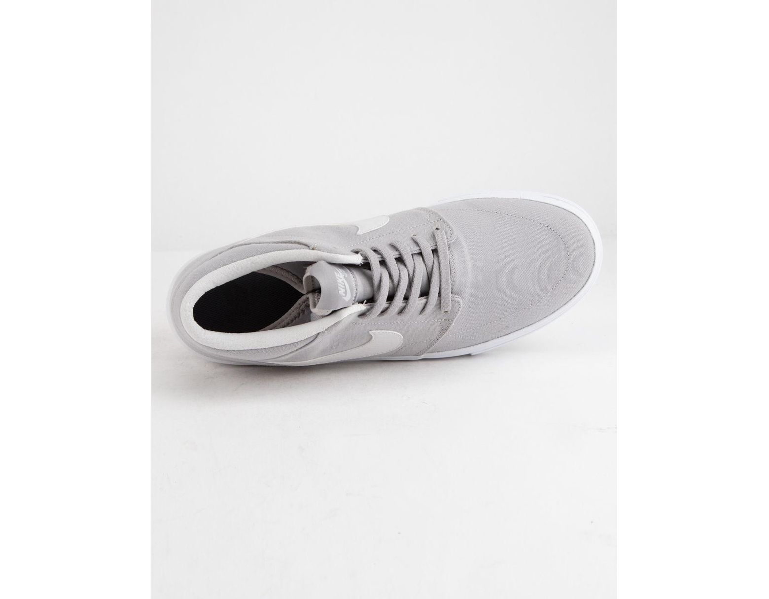 reputable site 0dc2d 675e9 Nike Portmore Ii Solarsoft Mid Canvas Atmosphere Gray   White Shoes in White  for Men - Lyst