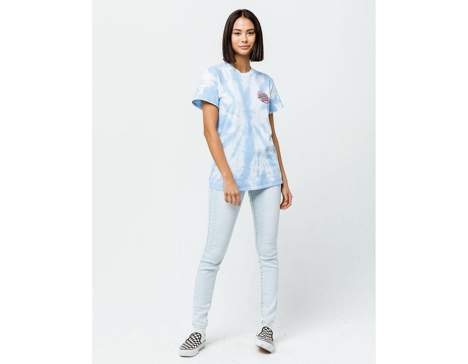 bf7d1fa06f Santa Cruz Convert Tie Dye Womens Tee in Blue - Lyst