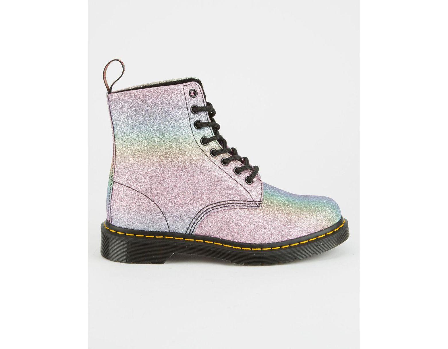 2058e95cdb5a Dr. Martens Rainbow Glitter Pascal Womens Boots - Lyst