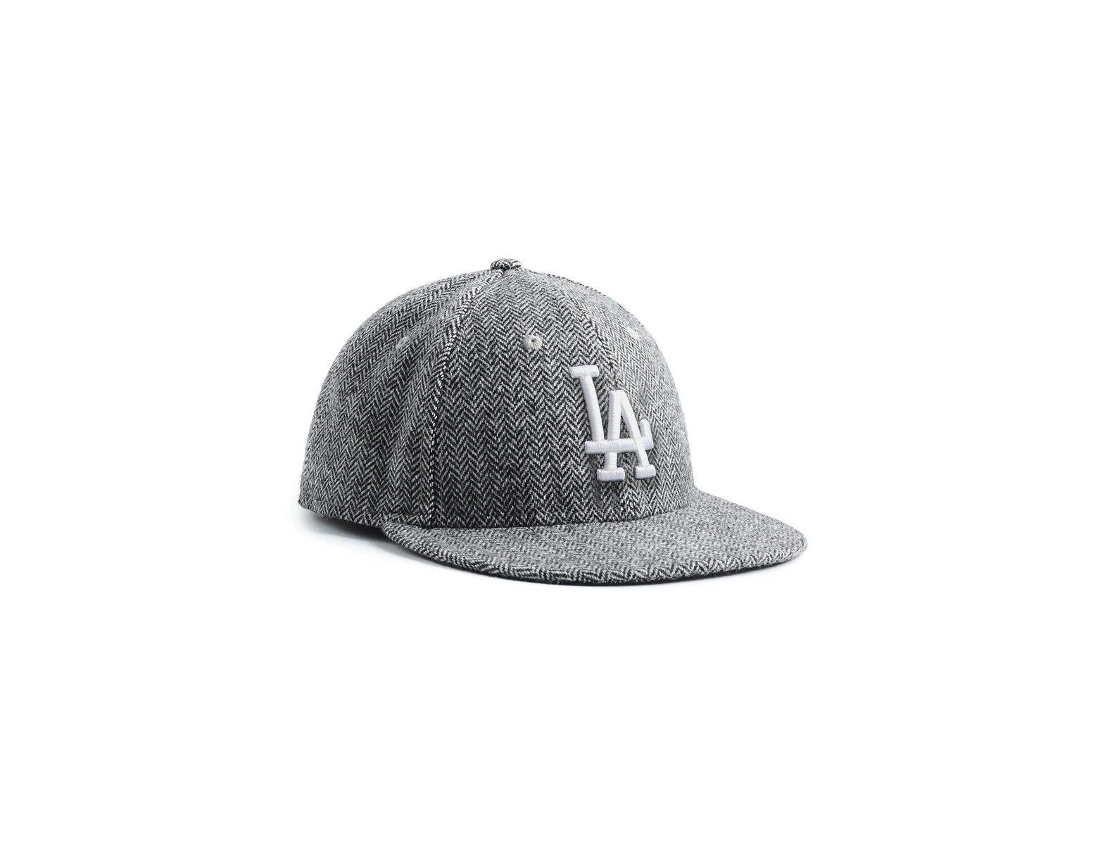 cc1abb85f NEW ERA HATS Exclusive New Era La Dodgers Hat In Abraham Moon Herringbone  Lambswool in Black for Men - Lyst