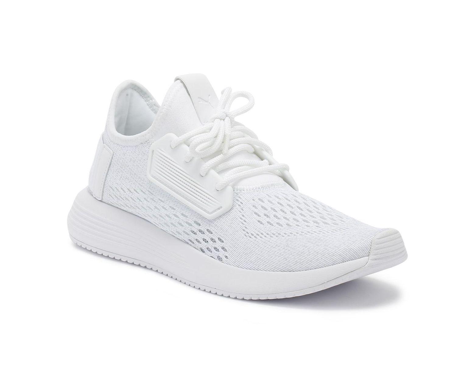 52e8976e643 PUMA Mens White Uprise Mesh Trainers in White for Men - Lyst