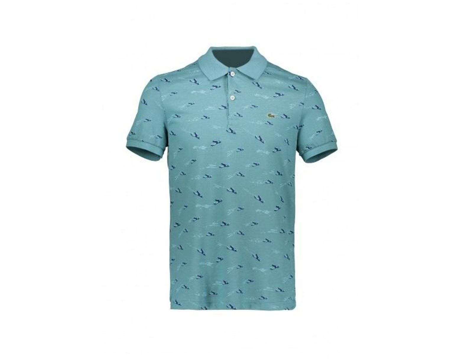 6f038d9a2 Lacoste Airplane Print Polo in Blue for Men - Lyst