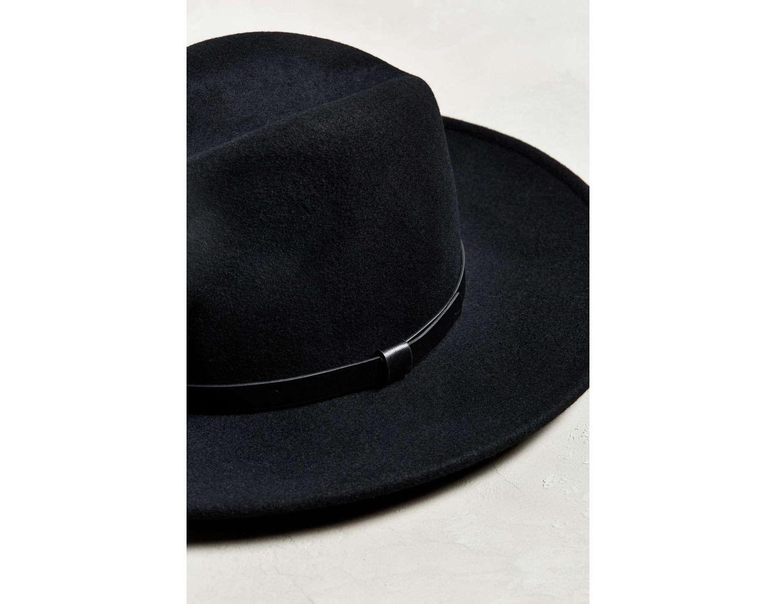 1c0fc02ae35a4 Lyst - Urban Outfitters Wide Brim Fedora in Black