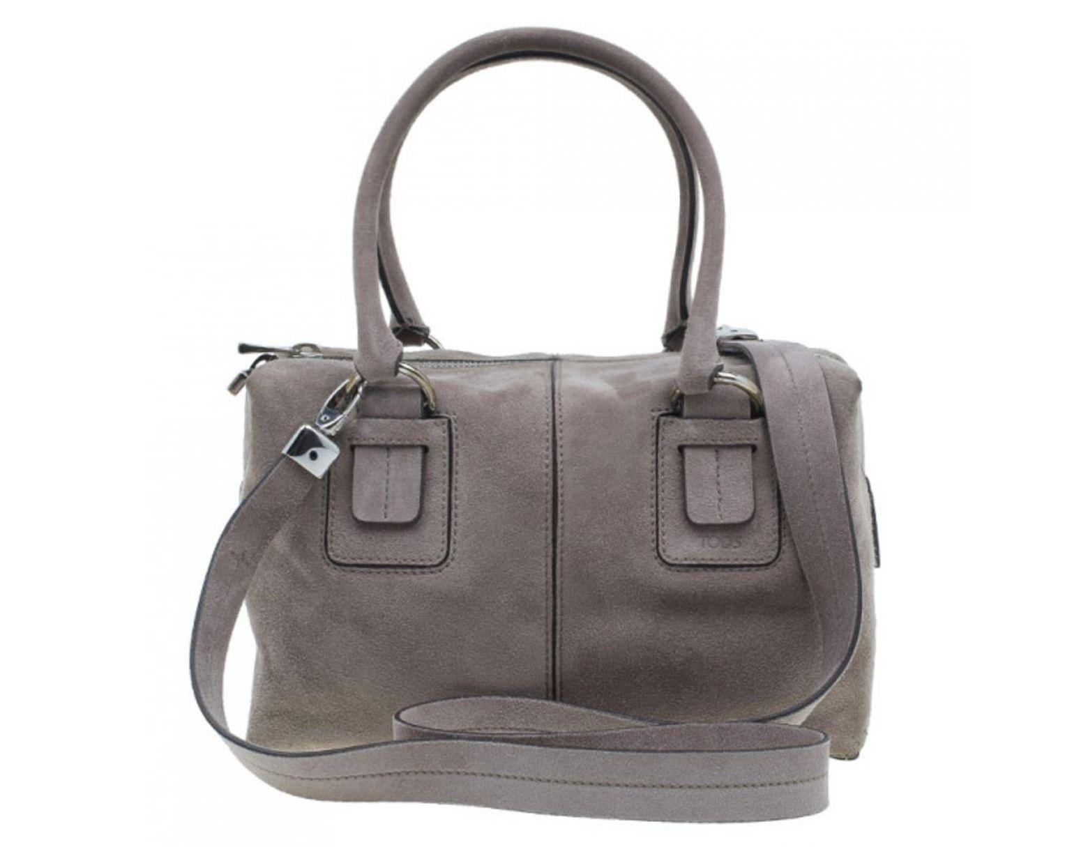 05111609cf2 Tod's Pre-owned Grey Suede Handbags in Gray - Lyst