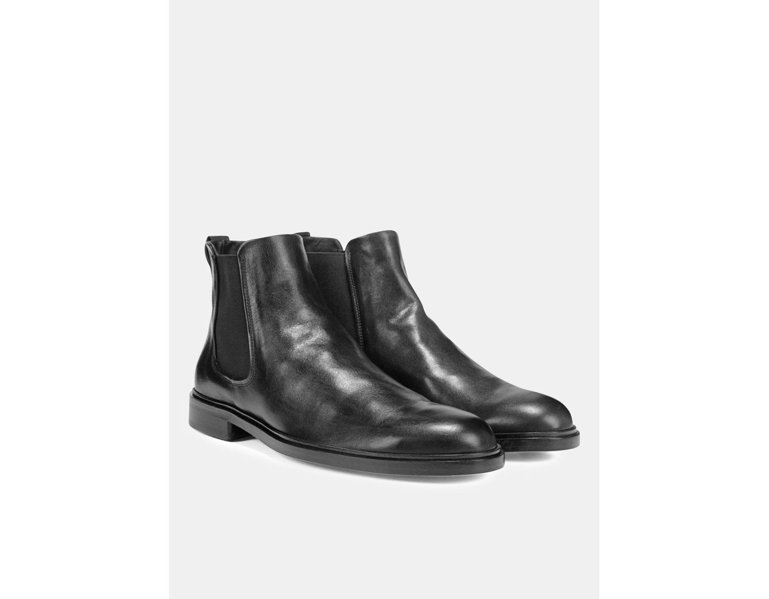 f2cd92258 Vince Leather Burroughs Boot in Black for Men - Lyst