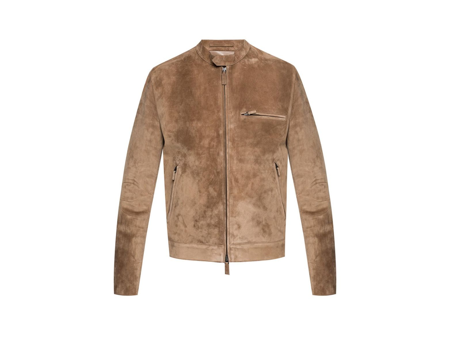 154077f709d Berluti Suede Jacket in Brown for Men - Lyst