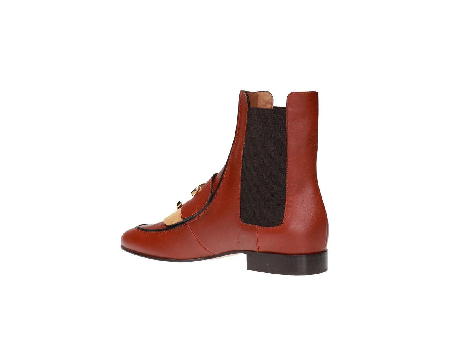 1de4a6ffa5 Women's Brown 'chloé C' Ankle Boots With Logo