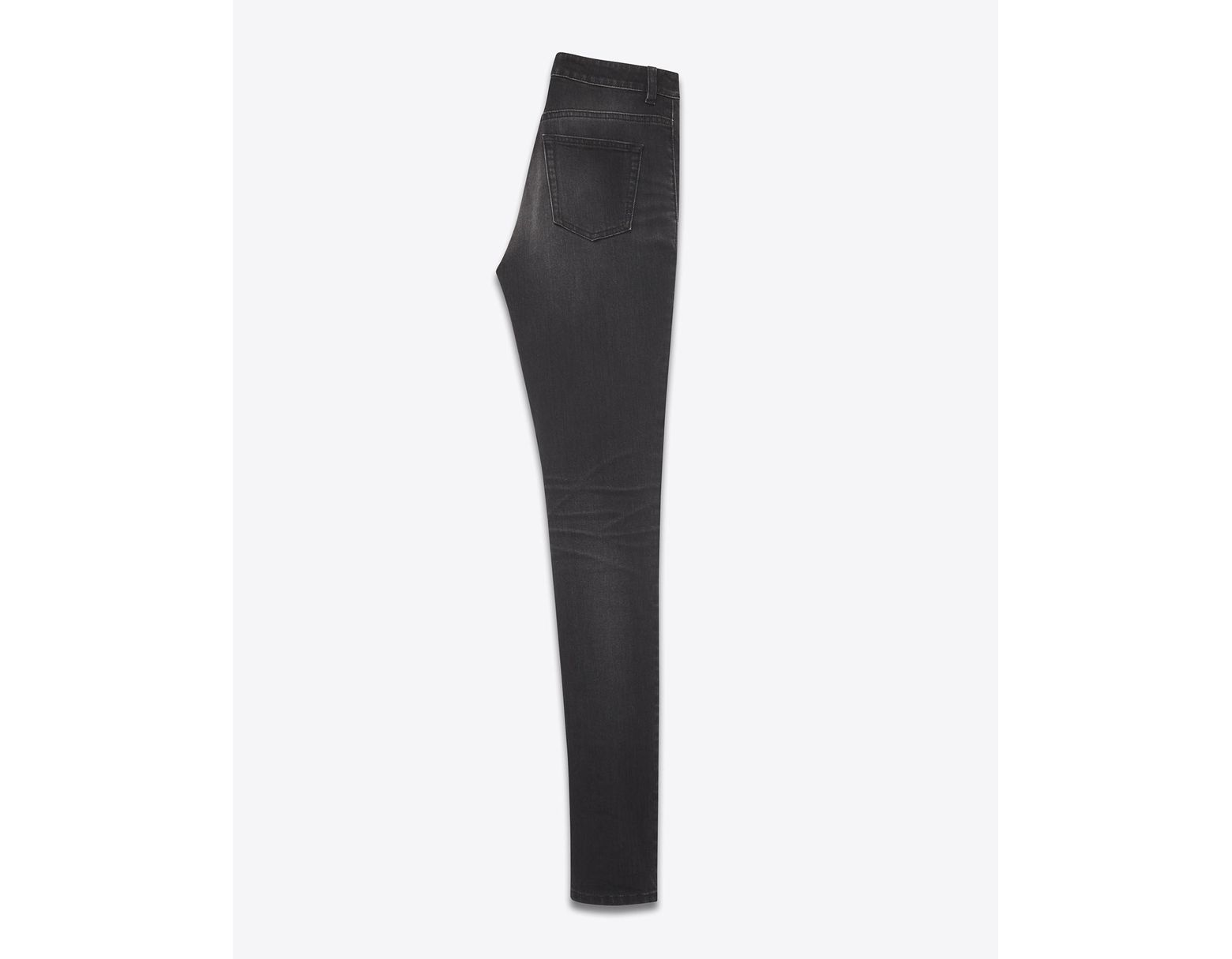 01b71168912 Saint Laurent High-rise Skinny Jeans In Black Stretch Denim in Black - Lyst