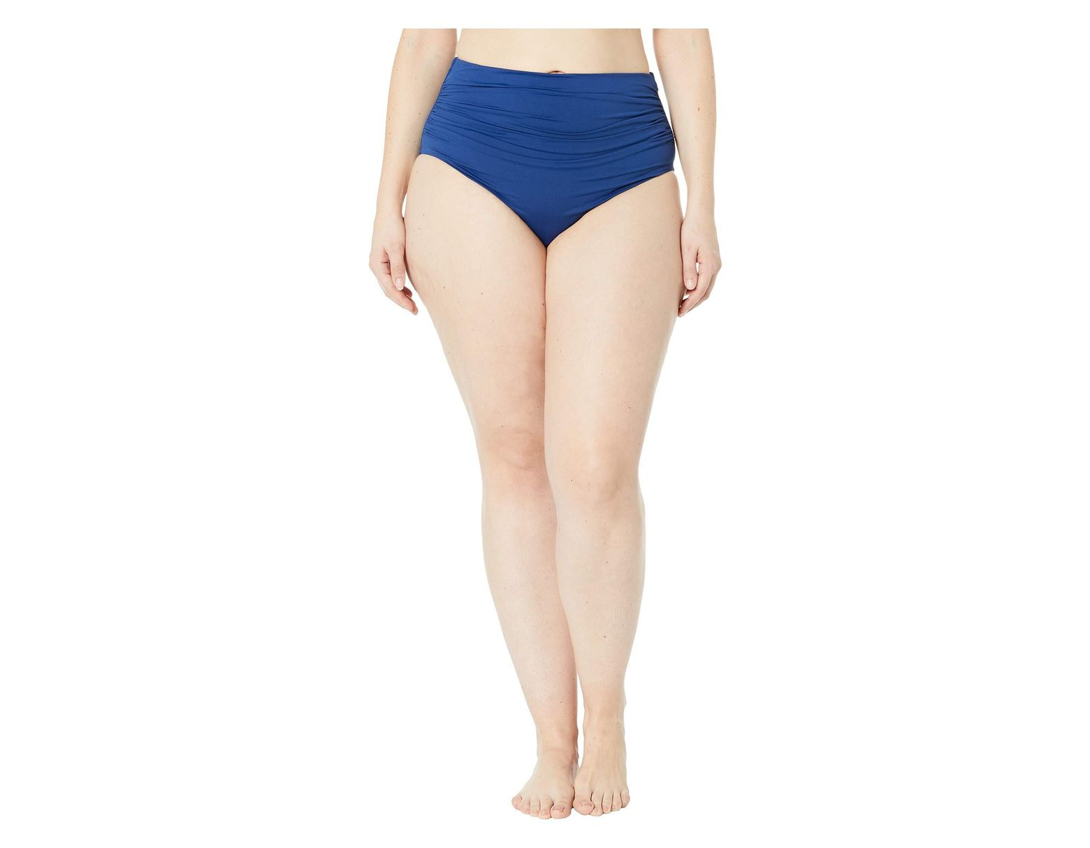 67addfb4f Lyst - Lauren by Ralph Lauren Plus Size Bias Ikat Shirred High-waisted Pant  (indigo) Women's Swimwear in Blue