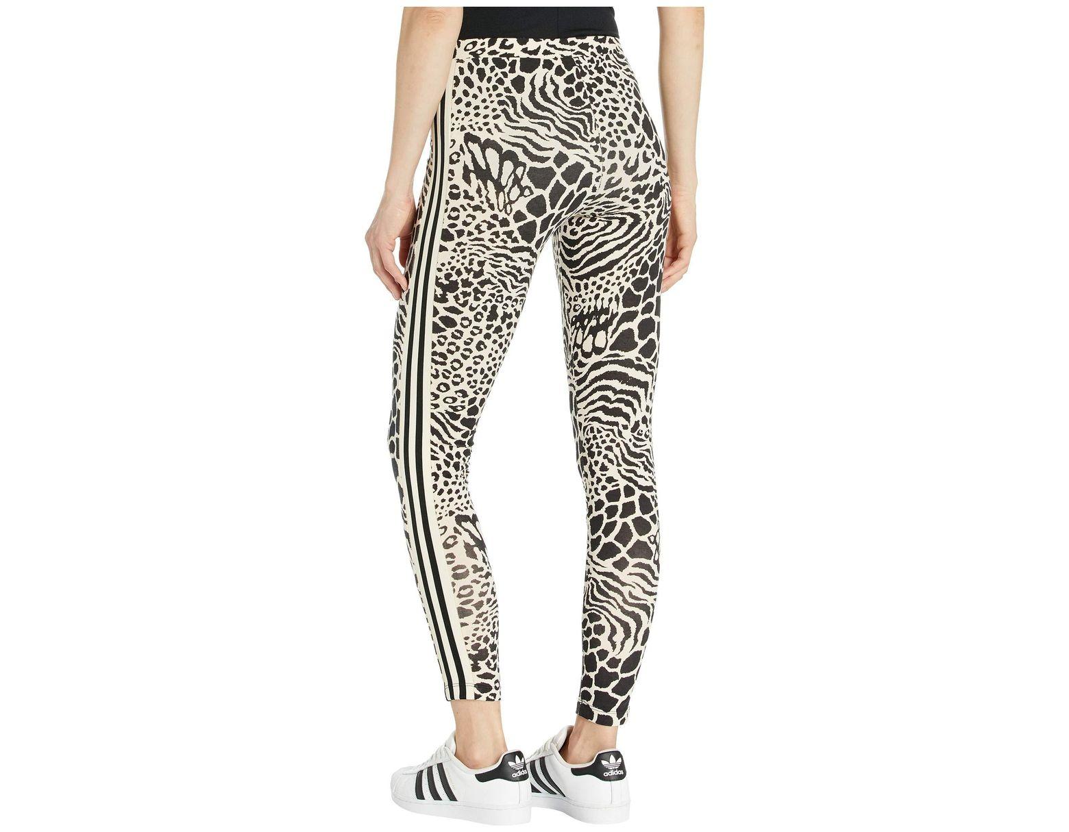 858e86fcc3441 adidas Originals 70s Kick Tights (ecru Tint/black) Women's Casual Pants in  Black - Lyst