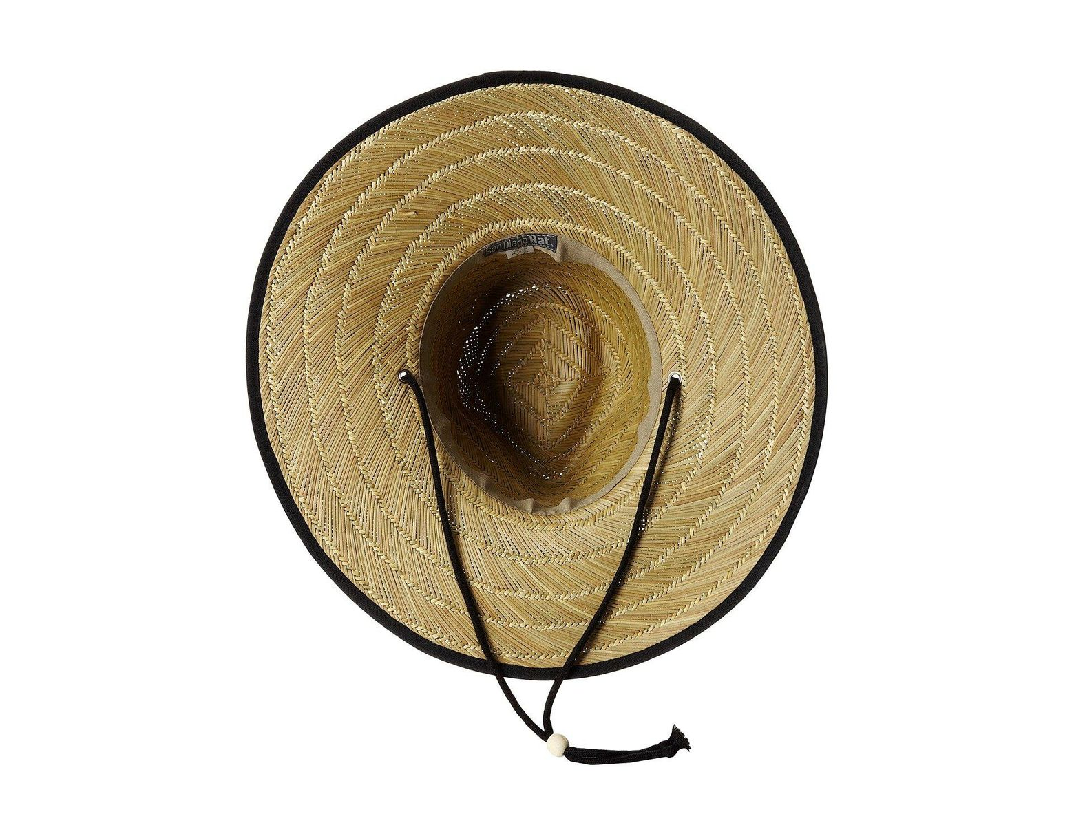 166a30c533fba San Diego Hat Company Rsl5556 Rush Straw Lifeguard W  Band And Chin Cord  (black) Caps in Black - Lyst