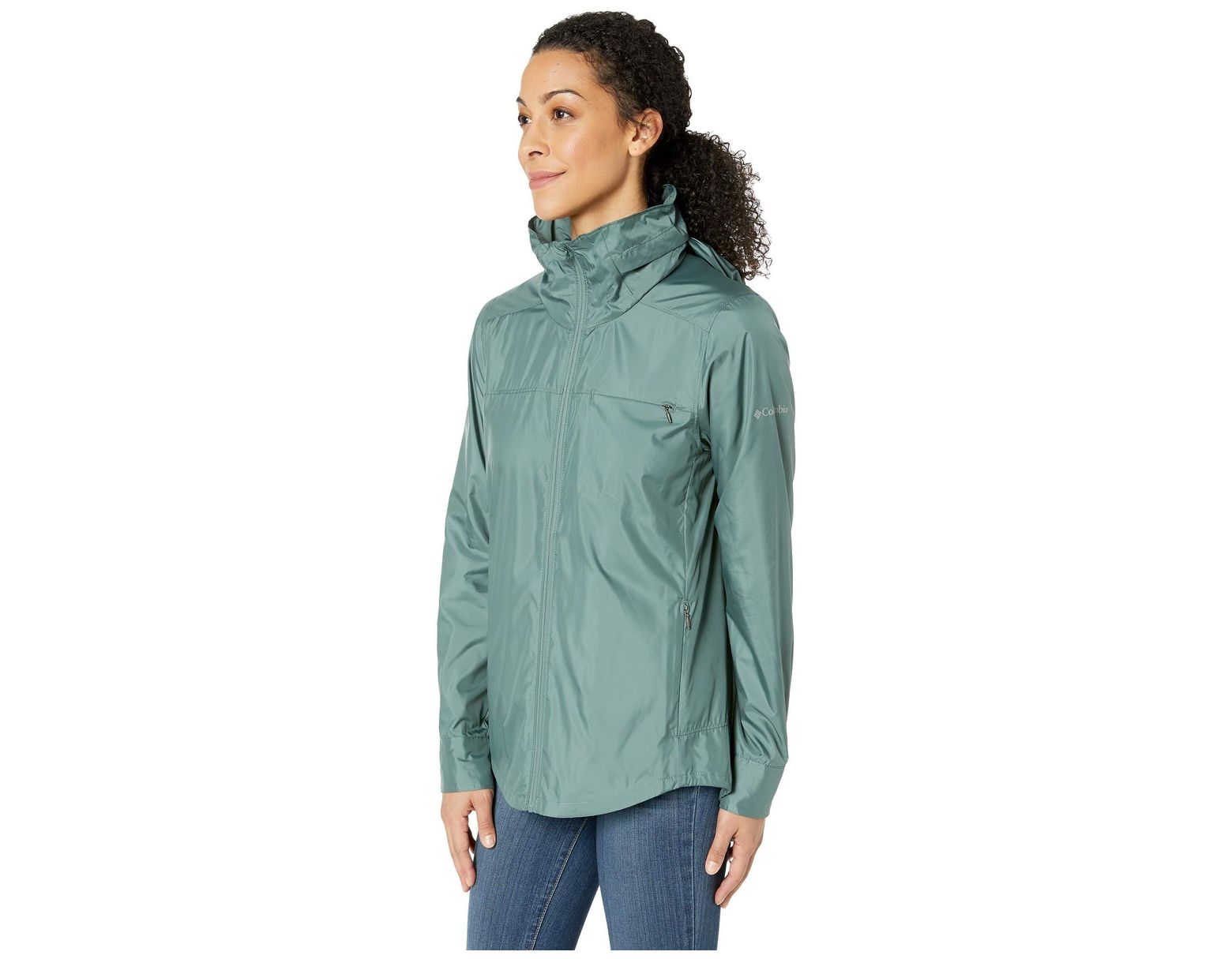 a9413457b Columbia Sustina Springs Windbreaker in Green - Save 24% - Lyst